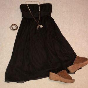 Silk Chiffon Brown Dress Size 4